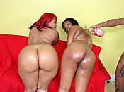 Luscious & Janae - Phat black cunts with huge asses fucked by a brother