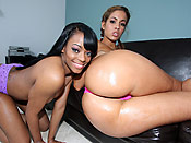 Isis & Eve - Phat black hoes with bubble asses sharing a big cock