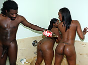 Tony and Stacy - Black ghetto hoes with magnificent asses love FFM threesomes