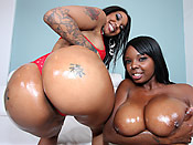 Capri and Stacy - Cheap black hoes servicing a monster cock