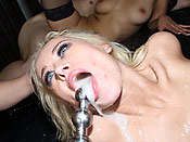 Rebecca Blue - Dirty Rebecca getting fucked everywhere and drowned in cum