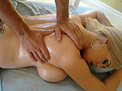 Kathy Cox - Dirty masseuse sliding a cock in this stupid girl