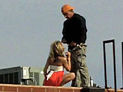 Rooftop blowjob from a real skank - Rooftop blowjob from a real skank