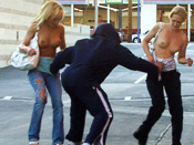 BurgerJoint Embarrassment  - Girls sharked, stripped and pantsed in public!