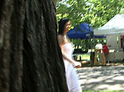 Dress fail - Dumb girl sharked in the park