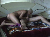 Diana - Hot cougar fucks young dude on husband´s bed!