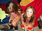 Lynn and Ella - Crazy teen girl going in for a threesome with a lucky guy and her best girlfriend