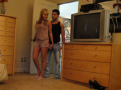 Briana B. - Sexy blonde fucks on floor in hacked vid!