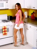 Sexy teen andie on making the top of kitchen sink hot for you