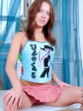 Sweet teen Anina shows off her well rounded ass as if she wants to get drilled doggie style