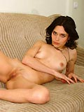 Brunette temptress shows you her tight pussy
