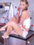 Beautiful anny cools down her steaming virgin body over the fridge