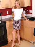 Loving blonde teen strips down her clothes