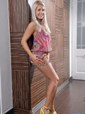 Sensual Nubile Brandy Smile looks frisky on the floor as she plays with her tickling vibrator