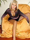 Incredible nubiles denisa showing her body on couch she´s hot and looks horny