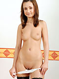 Irresistible nubile Ela flaunts her flirtatious tender body in the nude