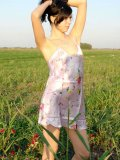 Sweet teen holly reveals her luscious body in the open field