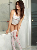Take sweet peek on Nubile Isabel completely naked in the bathroom with her wet pinkish twat