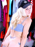 Alluring jess enjoys posing her juicy body nakedly on closet