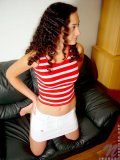 Sweet teen hottie jordan looks so cute on her couch