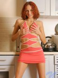 Wow sexy teen hottie juliana strips off her bikini in the kitchen