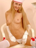 Juliette in nurse dress gets really naked that you may wish to be her patient