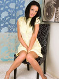 Lustful gorgeous Nubile Liz peels off her dress and sensually teases with her naked body