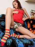 Hot small tittied masha looking for fun in the couch