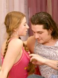 Alluring redhead mel not bothered of getting drilled hard by cute hunk stud