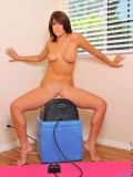 Tempting hot Nubile babe feels great as she takes a sweet and sensational ride on the sybian