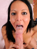 Nadia Noel gives her boyfriend a nice blow job before she lets her pussy get nailed hard