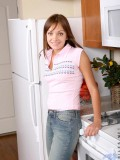 Niki pops out her delectable goodies slowly pulls down her tight jeans