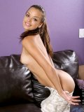 Naked teen renee naughtily covers her tempting assets on camera