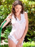 Get wet and wild outdoors with exotic Nubile beauty Rilee Marks