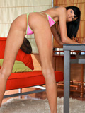 Skinny babe shows off her pussy bent over doggystyle