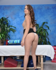 Hot 18 year old Pressley gives MORE than just a massage!