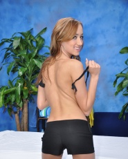 Hot 18 year old Victoria gives a sexy massage and a happy ending!