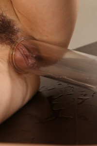 Gorgeous Taissia pours piss over her pretty head