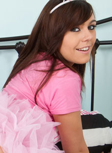 SpunkyAngels: Kacie James strips out of her little princess costume and starts to finger her wet pussy