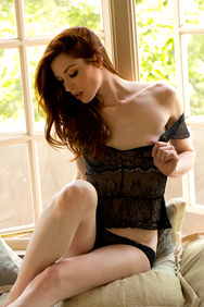 Stoya Pictures in Black Lingerie