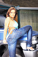 Angelika Black Pictures in Taking the Backroad Carwash
