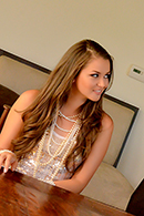 Allie Haze Pictures in Dat Pearl Necklace!