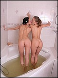 Two teen tarts in tub