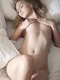 Sensual beauty pleasing her horny body
