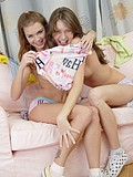 Stunning lesbians having fun together