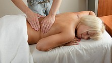 Beautiful gal gets a full massage