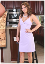 Bella Rossi strips in the kitchen!
