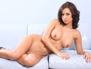 Lana shows off her bald pussy and big clit