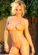 Tyler Faith in her tiny, sheer yellow bikini!