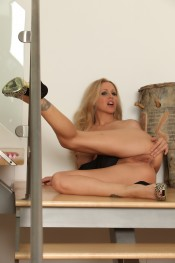 Julia Ann toys her tight asshole!